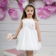 Βαπτιστικό Φόρεμα Λευκό Mi Chiamo Κ4142