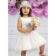 Βαπτιστικό Φόρεμα Ροζ Mi Chiamo Κ4142