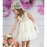 Βαπτιστικό Φόρεμα Ιβουάρ Mi Chiamo Κ4143