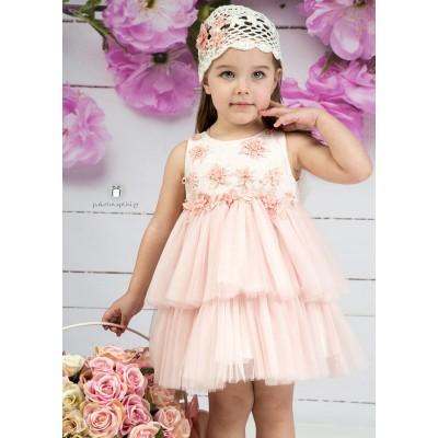 Βαπτιστικό Φόρεμα Old Pink Mi Chiamo Κ4143