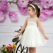 Βαπτιστικό Φόρεμα Ιβουάρ Mi Chiamo Κ4145