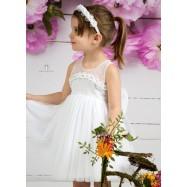 Βαπτιστικό Φόρεμα Λευκό Mi Chiamo Κ4145