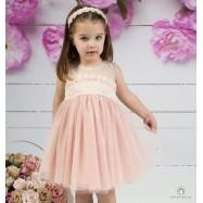 Βαπτιστικό Φόρεμα Peach Mi Chiamo Κ4145