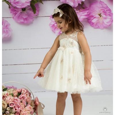 Βαπτιστικό Φόρεμα Ιβουάρ Mi Chiamo Κ4146