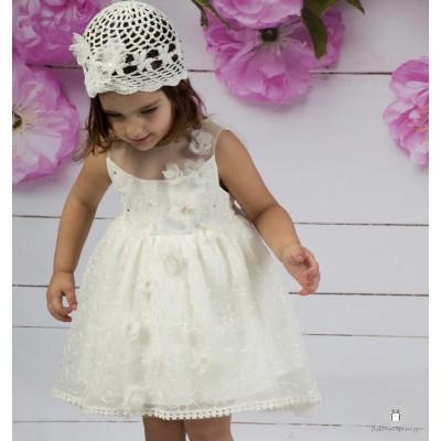 Βαπτιστικό Φόρεμα Ιβουάρ Mi Chiamo Κ4147