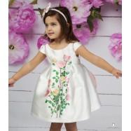 Βαπτιστικό Φόρεμα Λευκό Ροζ Mi Chiamo Κ4148