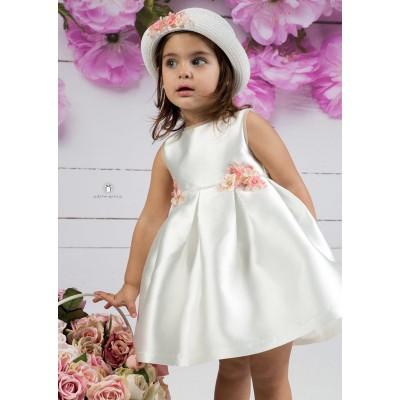 Βαπτιστικό Φόρεμα Ιβουάρ Σάπιο Μήλο Mi Chiamo Κ4151