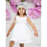 Βαπτιστικό Φόρεμα Λευκό Mi Chiamo Κ4153