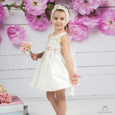 Βαπτιστικό Φόρεμα Εκρού Mi Chiamo Κ4154