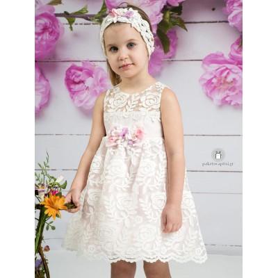 Βαπτιστικό Φόρεμα Ροζ Mi Chiamo Κ4155