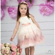 Βαπτιστικό Φόρεμα Ουράνιο Τόξο Mi Chiamo Κ4158
