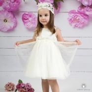 Βαπτιστικό Φόρεμα Εκρού Mi Chiamo Κ4160