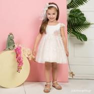 Βαπτιστικό Φόρεμα Ιβουάρ Mi Chiamo K4272
