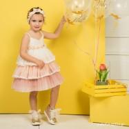 Βαπτιστικό Φόρεμα Rainbow Mi Chiamo K4274Μ