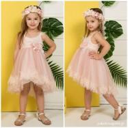 Βαπτιστικό Φόρεμα Old Pink Mi Chiamo K4276