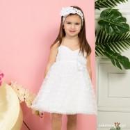 Βαπτιστικό Φόρεμα Λευκό Mi Chiamo K4278Λ