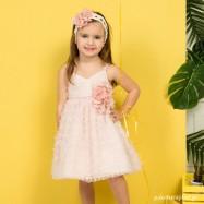 Βαπτιστικό Φόρεμα Peach Mi Chiamo K4278Ρ