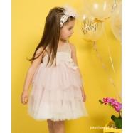 Βαπτιστικό Φόρεμα Ροζ Ιβουάρ Mi Chiamo K4282