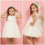 Βαπτιστικό Φόρεμα Ιβουάρ Ροζ Mi Chiamo K4291