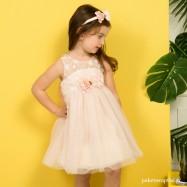 Βαπτιστικό Φόρεμα Peach Mi Chiamo K4293Ρ