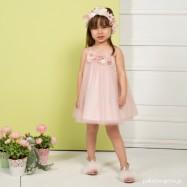 Βαπτιστικό Φόρεμα Old Pink Mi Chiamo K4298
