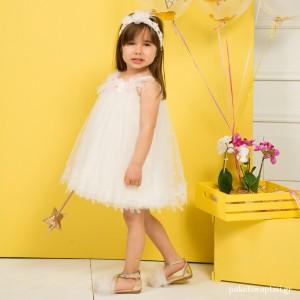 Βαπτιστικό Φόρεμα Ιβουάρ Mi Chiamo K4299