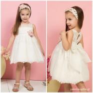 Βαπτιστικό Φόρεμα Ιβουάρ Mi Chiamo K4273E