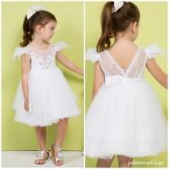 Βαπτιστικό Φόρεμα Λευκό Mi Chiamo K4275Λ