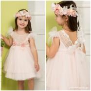 Βαπτιστικό Φόρεμα Peach Mi Chiamo K4275Ρ