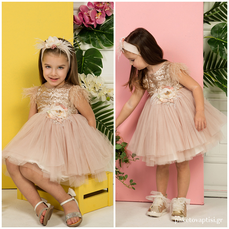 f28863fe4747 Βαπτιστικό Φόρεμα Bronze Mi Chiamo K4277ΜΠ