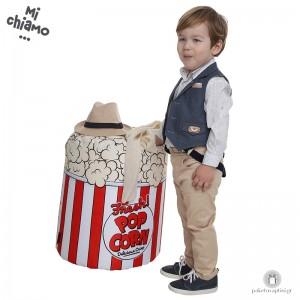 Βαπτιστικό Ρούχο για Αγόρια Jean Γιλέκο με Μπεζ Παντελόνι Mi Chiamo Α4074