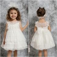 Βαπτιστικό Φόρεμα Ιβουάρ Mi Chiamo K4310