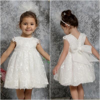 Βαπτιστικό Φόρεμα Ιβουάρ Mi Chiamo K4312