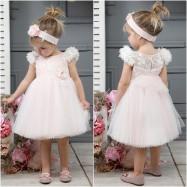 Βαπτιστικό Φόρεμα Ροζ Mi Chiamo K4313