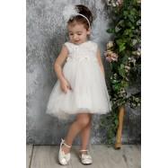 Βαπτιστικό Φόρεμα Ιβουάρ Mi Chiamo K4315
