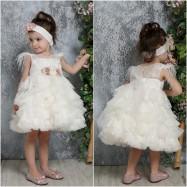 Βαπτιστικό Φόρεμα Ιβουάρ Mi Chiamo K4316