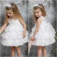 Βαπτιστικό Φόρεμα Λευκό Mi Chiamo K4320