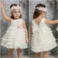Βαπτιστικό Φόρεμα Ιβουάρ Mi Chiamo K4321