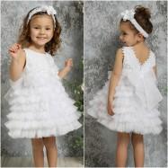 Βαπτιστικό Φόρεμα Λευκό Mi Chiamo K4321