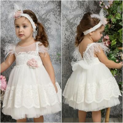 Βαπτιστικό Φόρεμα Ιβουάρ Mi Chiamo K4322