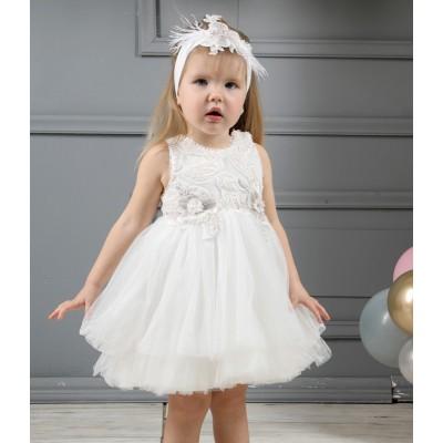Βαπτιστικό Φόρεμα Ιβουάρ Mi Chiamo K4323