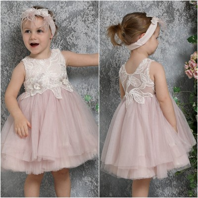 Βαπτιστικό Φόρεμα Κυκλάμινο Mi Chiamo K4323
