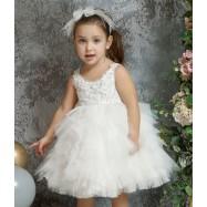 Βαπτιστικό Φόρεμα Ιβουάρ Mi Chiamo K4325