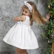 Βαπτιστικό Φόρεμα Λευκό Mi Chiamo K4327