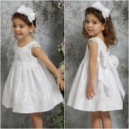 Βαπτιστικό Φόρεμα Λευκό Mi Chiamo K4328