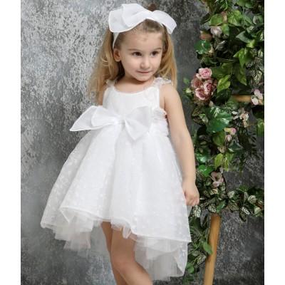 Βαπτιστικό Φόρεμα Λευκό Mi Chiamo K4329