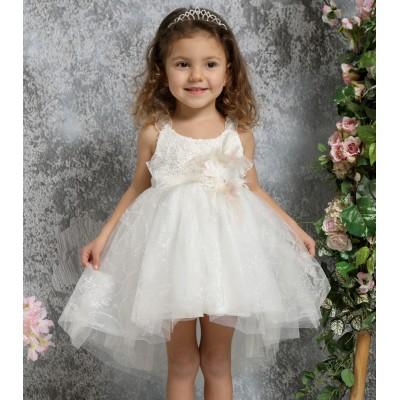 Βαπτιστικό Φόρεμα Ιβουάρ Mi Chiamo K4330