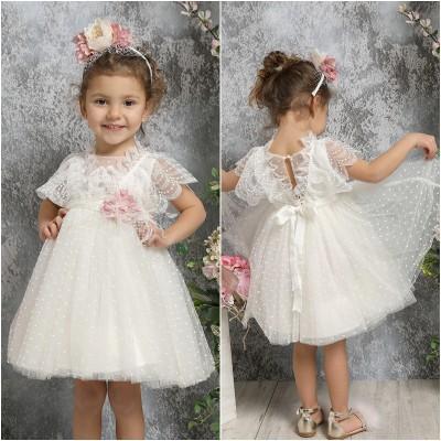 Βαπτιστικό Φόρεμα Ιβουάρ Mi Chiamo K4331