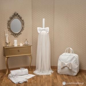 Σετ Βάπτισης Λευκός Φιόγκος
