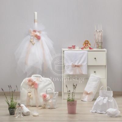 Σετ Βάπτισης Λουλουδένια Σύνθεση